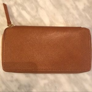 Barneys New York Leather Wallet New With Tags